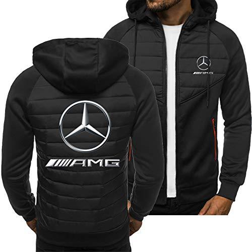 SPONSOKT Hoodies Jacke Mercedes-Benz Amg Drucken Beiläufig Strickjacke Dünn Herren Jungs Jugend Sweatshirt Klassisch / Schwarz1 / L