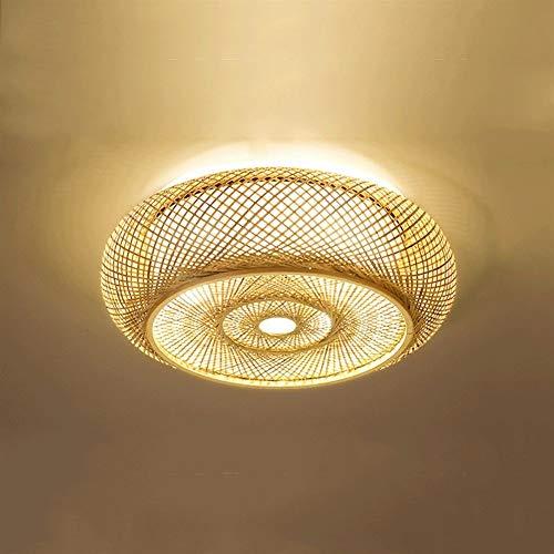 PNYGJXDD LED Retro Bamboo Art plafondlamp Vento industriële zeep bamboe lantaarn woonkamer thee club decoratie licht