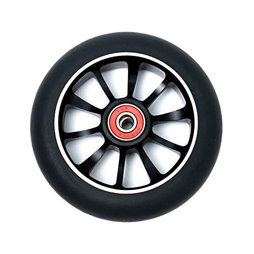 TGHY 2 Piezas Rueda de Patinete Ruedas de Repuesto de PU de Patinete de Acrobacias de 110mm Rodamientos Instalados Ruedas de Patinete de Calidad para Una Conducción Suave