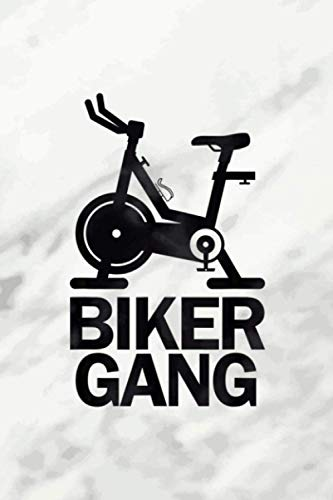 Biker Gang Funny Spin Saying Gym Workout Spinning Class Vitamin & Supplements Tracker