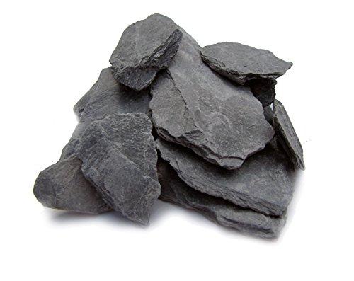 Pierres d'ardoise / roches / gravier pour jardin miniature, jardin féerique, modélisme ferroviaire et wargame (pierres de 2,5 cm à 7,6 cm – 0,9 kg)