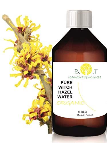 Organische Hydrolat Toverhazelaar - Hamamelis water 100 ml Bloemenwater 100% Pure Alcoholvrij Poriënreiniger Vette huid Toner Gezicht Make-up Remover Blemish Acne natuurlijke reiniger en toner