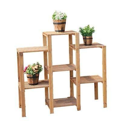 Estante genérico para Plantas de Elfo Pla con diseño de Flores, para Escalera, estantería de jardín o Escalera, Estante de Madera W: Amazon.es: Electrónica
