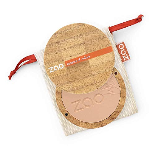ZAO 303 Compact Powder Brown/Beige/Neutral in a Refillable Bamboo Container Certified Bio / Ecocert / Cosmebio / Natural Cosmetics by ZAO essence of nature