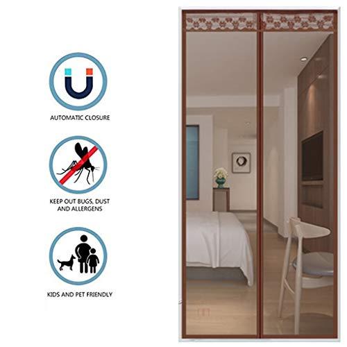 FEFCK Magnetische Fliegengitter Schirm Tür Vorhang, Weiteten Sich 4 cm Self-Sticking Schwere Mesh-Vorhang Winddichtes Anti-Moskito 85 * 215