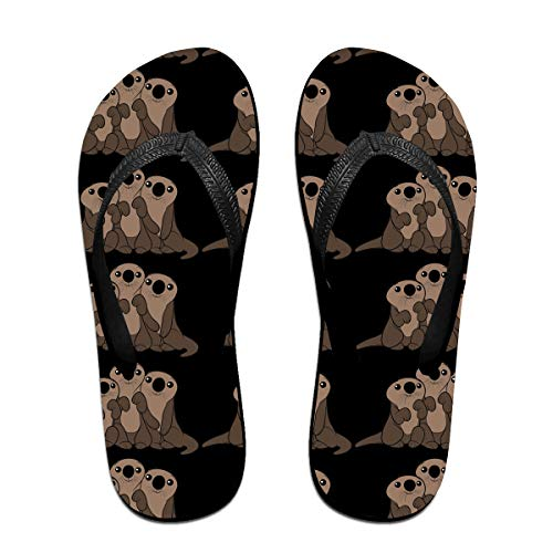 Iop 90p Cute Sea Otters Flip Flops Slippers Beach Sandals Pool Shoes