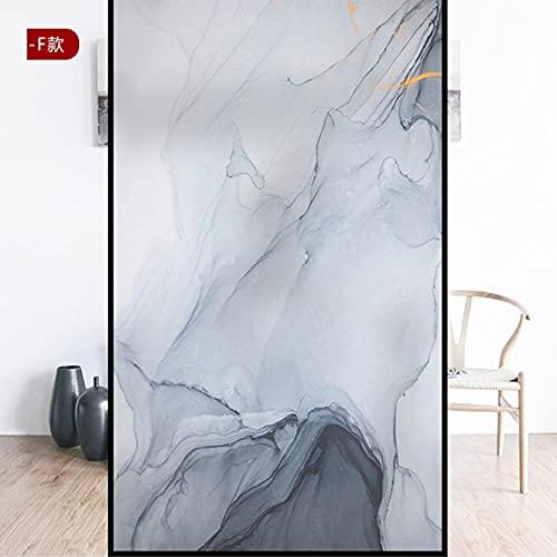 Película de ventana de privacidad esmerilada película de vidrio manchado decoración de mármol etiqueta de ventana de vinilo no adhesivo etiqueta de vidrio película de puerta de ducha