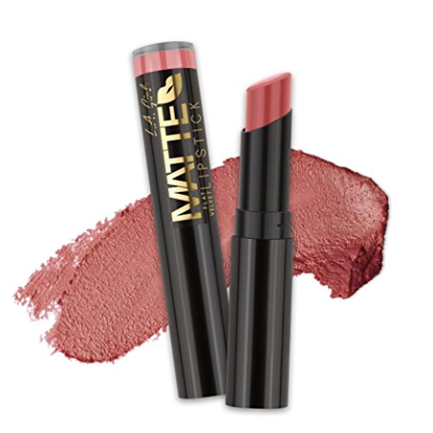 ウィスキー匹敵します構想する(6 Pack) L.A. GIRL Matte Flat Velvet Lipstick - Hush (並行輸入品)