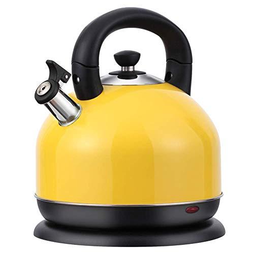 KTDT 3L 2000W Edelstahl Wasserkocher Akku-Warmwasserboiler Heizung Abschaltautomatik und Trockengehschutz, gelb