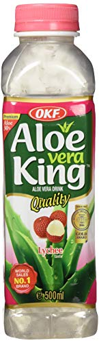 OKF Aloe Vera Getränk Lychee, 20er Pack (20 x 500 ml)