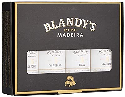 Blandy's 5 Year Old Madeira Wine Mini Collection Gift Pack, 5 cl, Case of 4