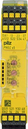 Pilz Not-Aus-Schaltgerät PNOZ s5 C #751105 24VDC 2 n/o 2 n/o t Gerät zur Überwachung von sicherheitsgerichteten Stromkreisen 4046548025538