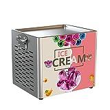 Máquina de Hacer Helados, Máquina eléctrica para hacer rollos de helado Máquina de yogur frito, con 2 palas de helado para un helado enrollado casero...