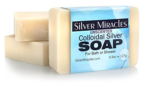 Silver Miracles Colloidal Silver Soap - 3 Paquet