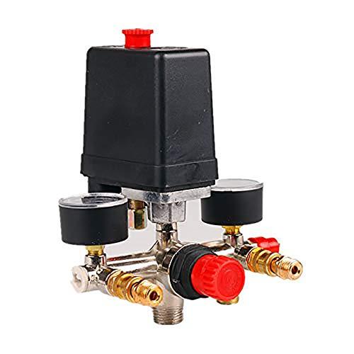 Pressostat Pressostat compresseur d'air Régulateur de pression avec 2 pressiomètres Kit de commande de soupape