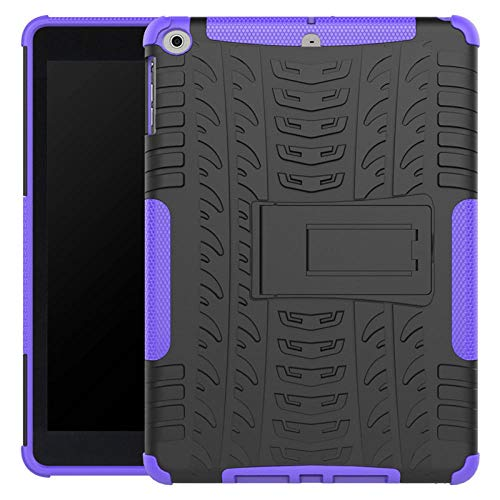 YYLKKB Case For ipad Air Tablet Case Silicone Pc Armor Heavy Duty Kids Shockproof Tablet Cover For Ipad Air A1475 A1476-purple