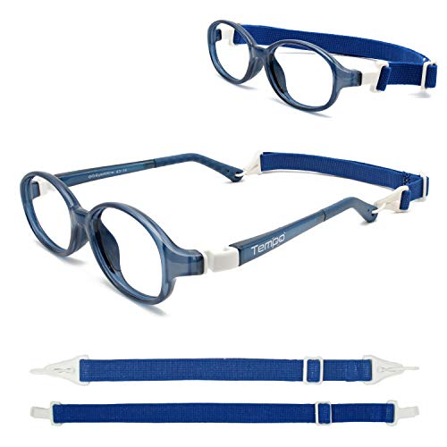 Tempo Ultra: 3005112 Unbreakable Kids Glasses with Headstrap Age 2-5Yr | Navy Blue