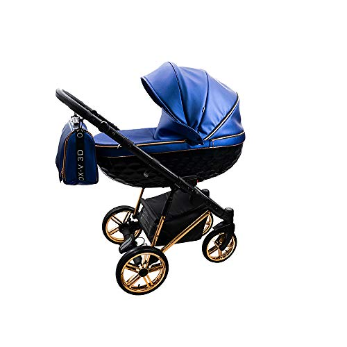 Kinderwagen Set 3in1 2in1 Buggy OXV-3D by Lux4Kids Royal 03 4in1 Autositz +Isofix