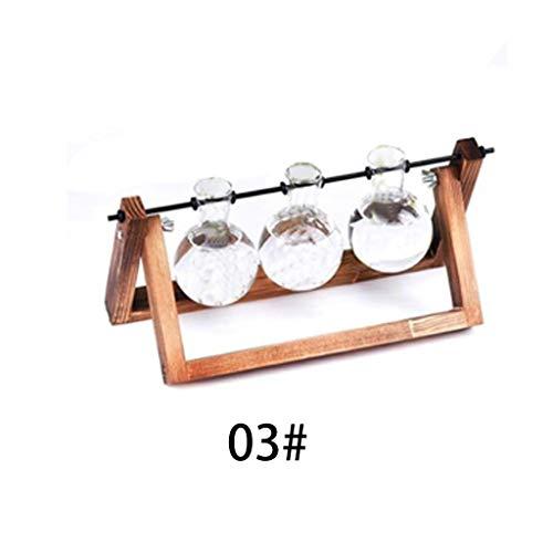 Starry Sky Hydroponische planten, vazen, glazen vaas, planter, terrarium, tafel, desktop-bonsai, bloempot, hangende potten met houten dienblad, huisdecoratie