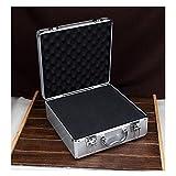 WEISHAN Caja de Herramientas de 340x330x150mm Caja de Herramientas de aleación de aleación de Aluminio portátil Caja de Almacenamiento en casa Maleta Equipaje de Viaje con Esponja precortada