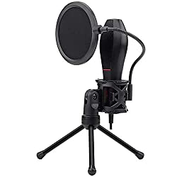 The Redragon Quasar GM200 Omnidirectional USB Condenser Microphone with Tripod & Pop Filter,Redragon,GM200