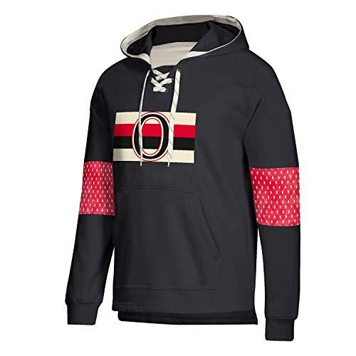 adidas Ottawa Senators Vintage NHL Jersey Hoodie Schwarz, XL