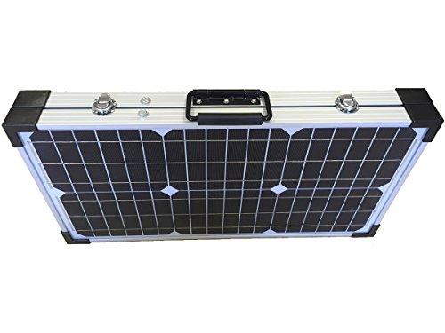 Panel Solar Monocristalino Plegable 60w con regulador y Maleta