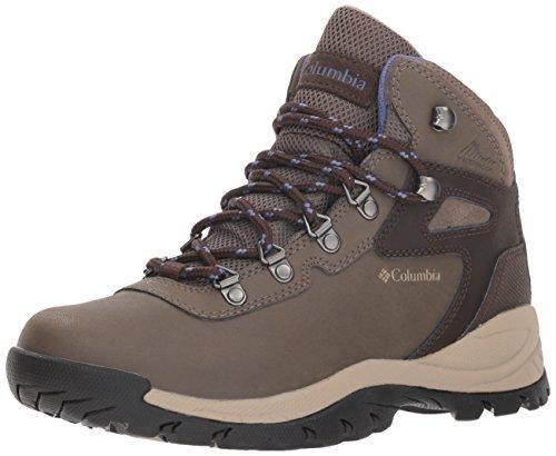 Columbia womens Newton Ridge Plus Waterproof Hiking Boot, Mud/Eve, 8.5 US
