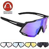 Radbrille CrazyFire Polarisierte Sportbrille Fahrradbrille Großer Bildschirm Sonnenbrille mit...