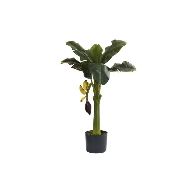 silk flower arrangements nearly natural 5359 banana tree, 3-feet, green,large