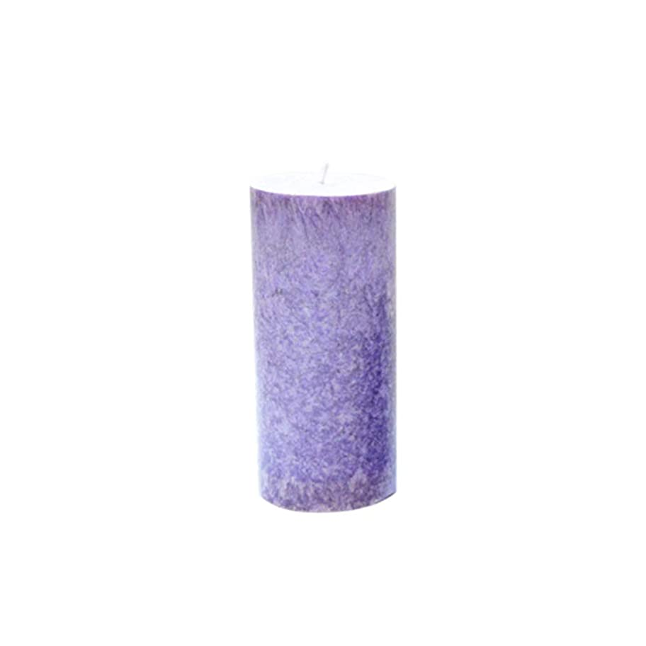 木材熱心恵みRakuby 香料入り 蝋燭 ロマンチック 紫色 ラベンダー アロマ療法 柱 蝋燭 祝祭 結婚祝い 無煙蝋燭