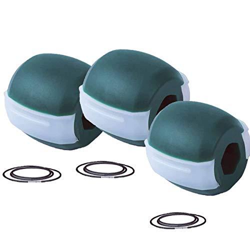 TNNT 3 Stück pro Packung Kiefertrainer Gesichtstrainer Doppelkinn-Reduzierer Eliminator Kiefer Modellierwerkzeug Aussehen jünger Face-Lift reduziert Stress Fortgeschrittene Effektiv 18 kg