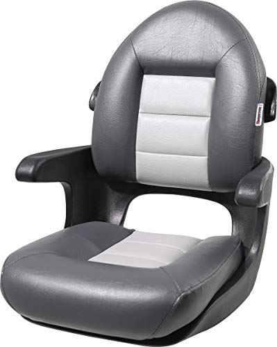 Tempress 57017 Elite Helm High-Back Boat Seat - Charcoal/Gray