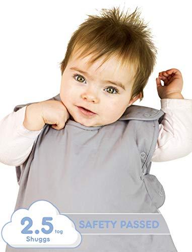 Shuggs Schlafsack Baby 2,5 TOG - Schlafsack mit Reißverschluss mit Wickelmöglichkeit- Baby Schlafsack für Jungen und Mädchen 6-18 Monate - Overall Baby - Winterschlafsack Baby