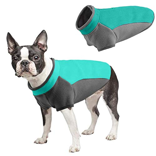 ABRRLO Fleece Hundepullover Hundevliesweste mit Reißverschluss Warme Haustierkleidung Welpenjacke Weste Katzenpullover Mantel für kleine mittelgroße Hunde