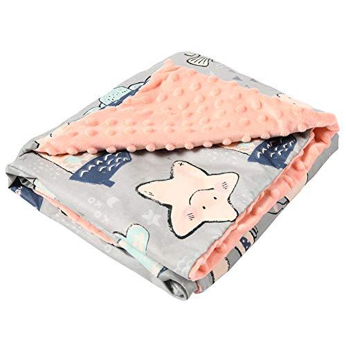 Manta para bebé de algodón de doble cara, multifuncional, 80 x 100 cm, manta para gatear, suave, mullida, cálida, ropa de cama para bebés para bebés recién nacidos, cochecitos (magios)