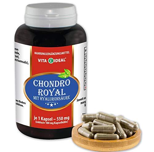 VITA IDEAL ® Chondro Royal 360 Kapseln je 550mg, mit Hyaluronsäure, Glucosaminsulfat, Ingwer, Ackerschachtelhalm, Silberweidenrinde, Chondroitinsulfat, MSM, Grünlippmuschel, ohne Zusatzstoffe