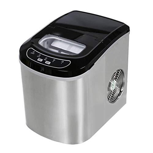 Ice Makers YX Ice Maker Milk Tea Shop Wasserbar Eismaschine Tragbare Eismaschine für den Hausgebrauch Schnelle Eisherstellung in 6-13 Minuten Keine Pipeline erforderlich Eismaschine