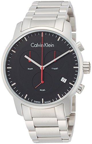Calvin Klein Herren Chronograph Quarz Uhr mit Edelstahl Armband K2G27141