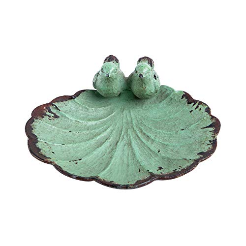 NIKKY HOME Creative Twin Mocking Bird Antique Trinket Tray Dish for Jewellery Holder Display, Green