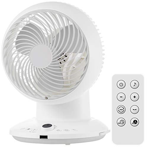 [山善] サーキュレーター 20畳 (換気 / 空気循環) (360度首振り) (DCモーター) (風量調節8段階) (リモコン付き) (入切タイマー搭載)ホワイト YAR-CD20 [メーカー保証1年]