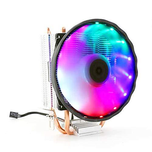 N/A. Doble tubo de cobre CPU enfriador silencioso radiador ventilador de escritorio accesorios de computadora