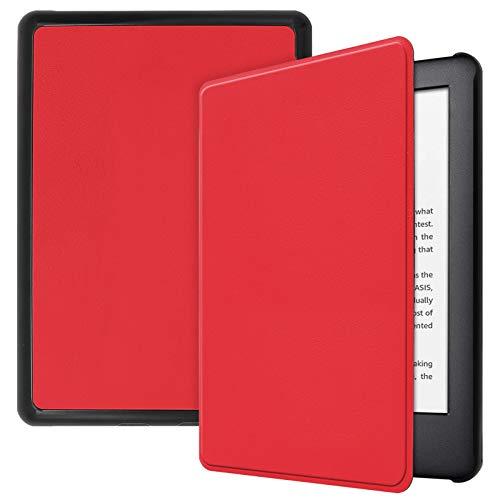 Lobwerk Funda para Amazon Kindle 2019 (10. Generación) Funda Smart Cover de 6 Pulgadas con función Atril y función de Encendido y Apagado automático. Rojo Rojo
