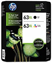 HP 63XL Black and Color Combo Ink Cartridges, 2 pk