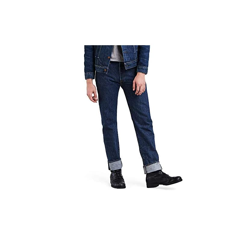 Levi's Herren 501 Original Straight Jeans Dark Stonewash 32W / 30L