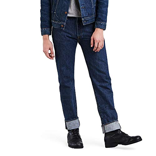 Levi's Men's 501 Original Fit Jeans, Dark Stonewash, 29W x 32L