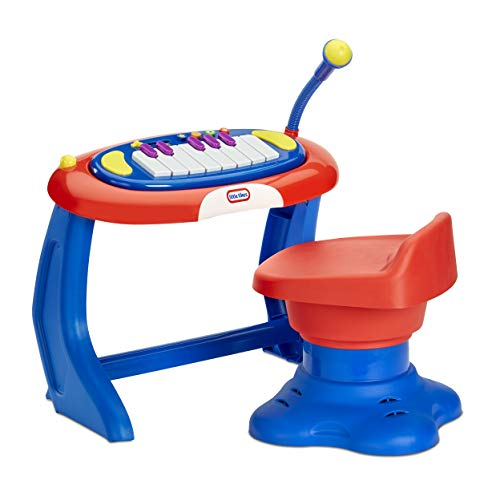 Little Tikes Sing-a-Long Piano Musical Station Keyboard with Working Microphone for Kids Ages 3-5 Years Old