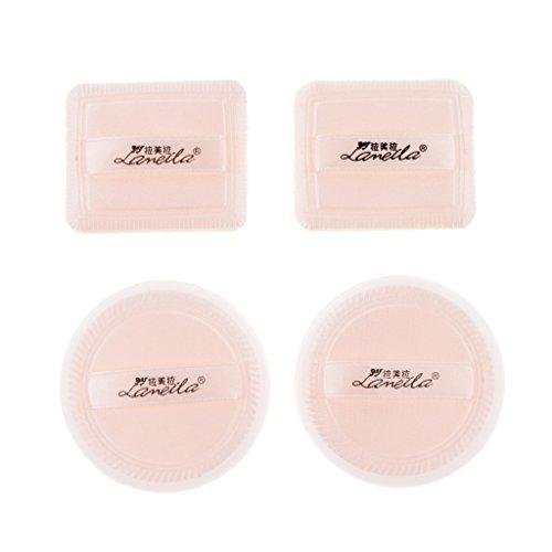 Homyl 4pcs Éponge Fondation Houppe pour Poudre Cosmétique Fond de Teint Maquillage Demaquillage Nettoyage Visage