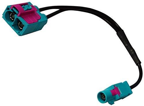 AERZETIX: Connecteur câble 20cm Adaptateur fiche antenne FAKRA mâle Vert vers Double FAKRA Femelle pour Auto Voiture C11975