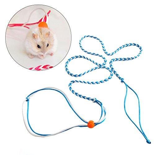 ueetek 1.4m Hamster Leine Blei flexibel Krawatte Leine Halsband Halskette Geschirr für Maus Eichhörnchen Hamster Haustiere (zufällige Farbe)